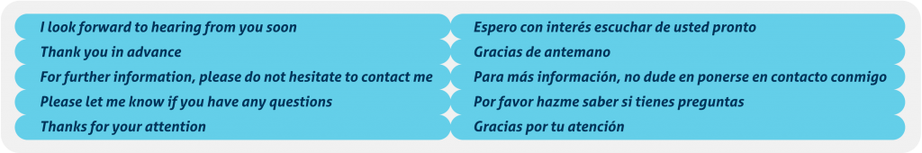 redactar en inglés correos electrónicos