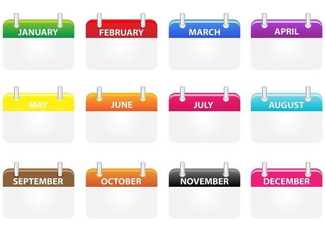 Los meses del año te ayudarán a escribir fechas en inglés